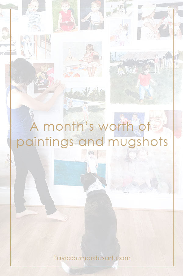 A month's worth of paintings and mugshots - flavia bernardes art blog