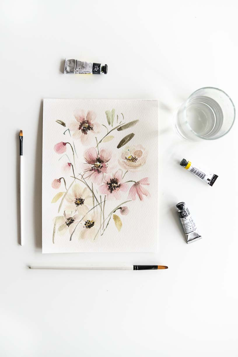 soft watercolor flowers