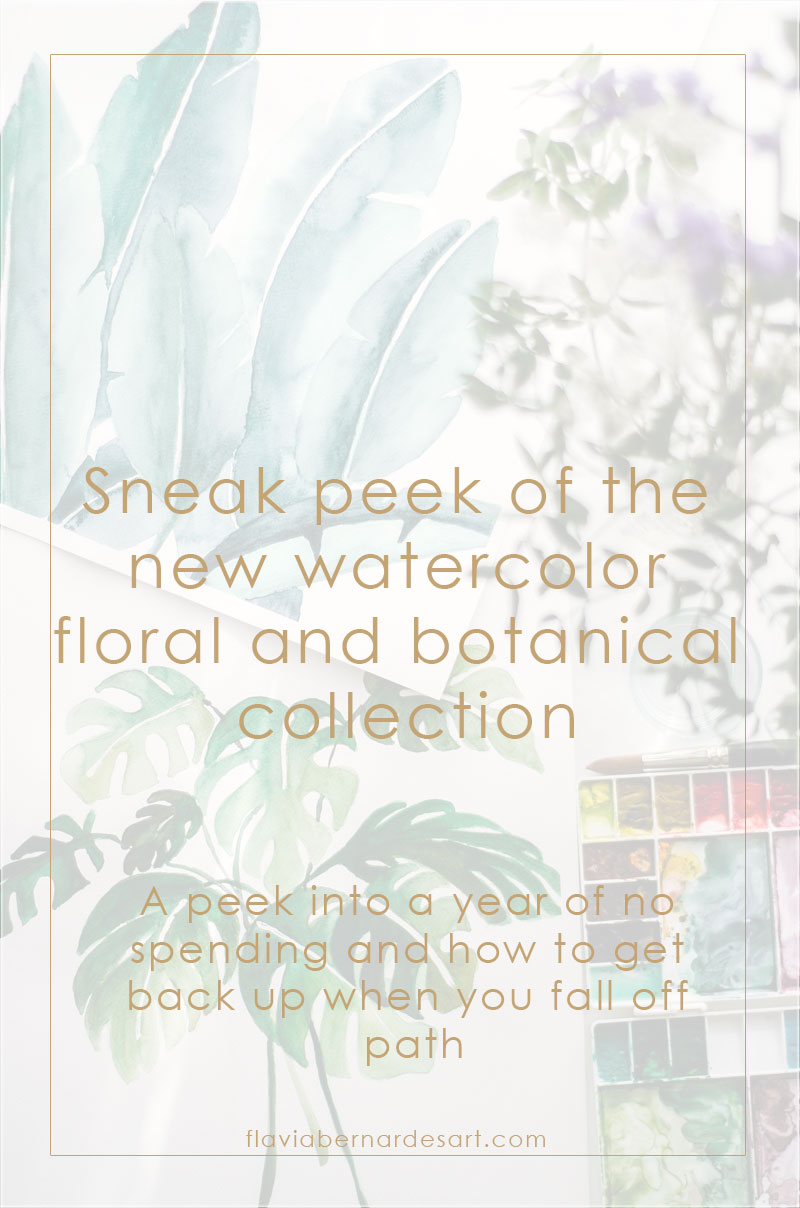Sneak peek of the new watercolor floral and botanical collection Flavia Bernardes Art