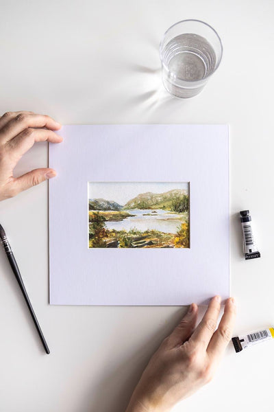 4x6 watercolor Irish landscape - Flavia Bennard