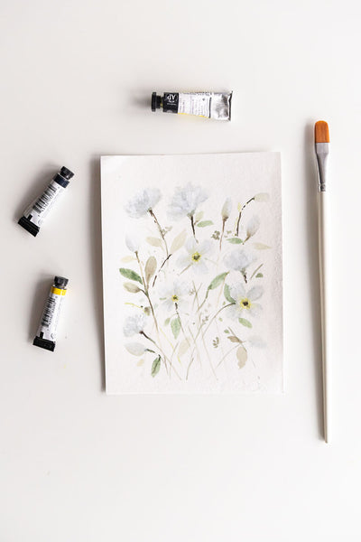 Flavia Bennard white watercolor flowers 2