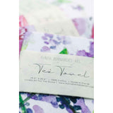 Lavender floral watercolor tea towel Flavia Bernardes Art