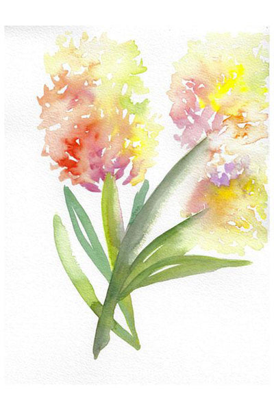 """Hydrangea In Bloom"" Original Watercolor Floral Painting"