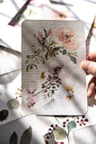 4x6 watercolor flowers painting Flavia Bennard