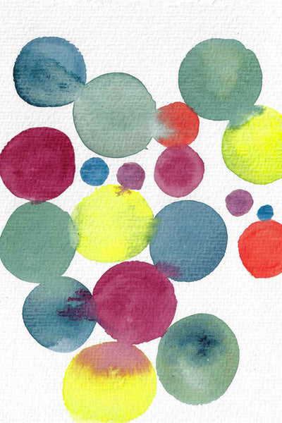 """Molto vivace"" vertical watercolor abstract print"