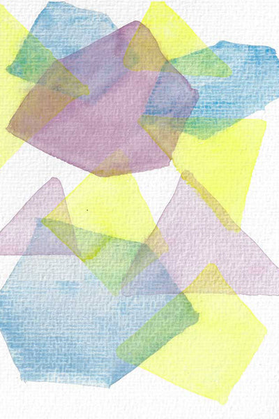 """Cadenza"" vertical watercolor abstract print"