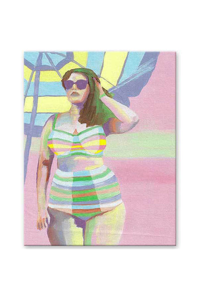 canvas painting - body positive art - pink painting - flavia bernardes art