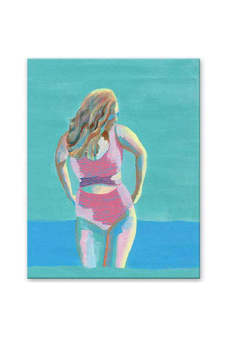 """Blue Serenade"" - Body Positive Art - Original Painting"