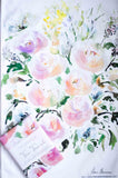 watercolour floral kitchen towel Flavia Bernardes