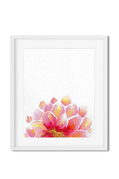 modern art print - watercolor dahlia print - watercolor flower print - flavia bernardes art
