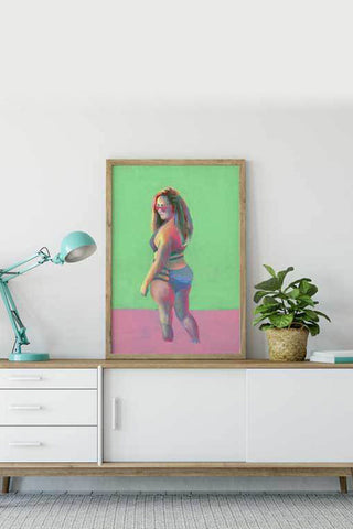 canvas art - original painting - body positive art-flavia bernardes art