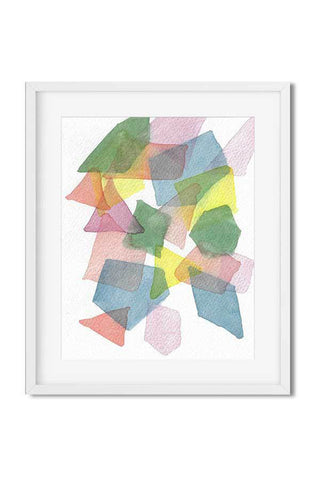 modern art print - abstract watercolor print - geometric watercolor print - flavia bernardes art