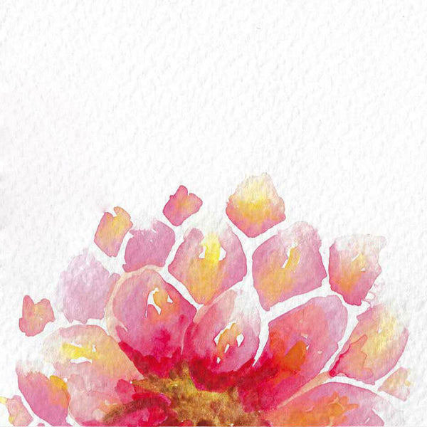 """Dahlia in Bloom"" vertical watercolor floral print"