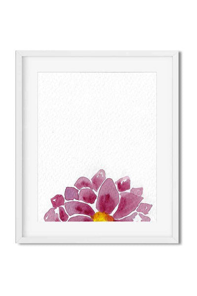 modern art print - watercolor flower print - watercolor art print - flavia bernardes art