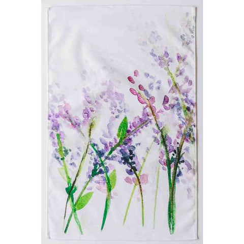 watercolor-lavender-flower-tea-towel