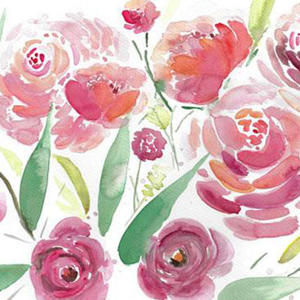 Red And Pink Harmony - Original Watercolor Floral Painting