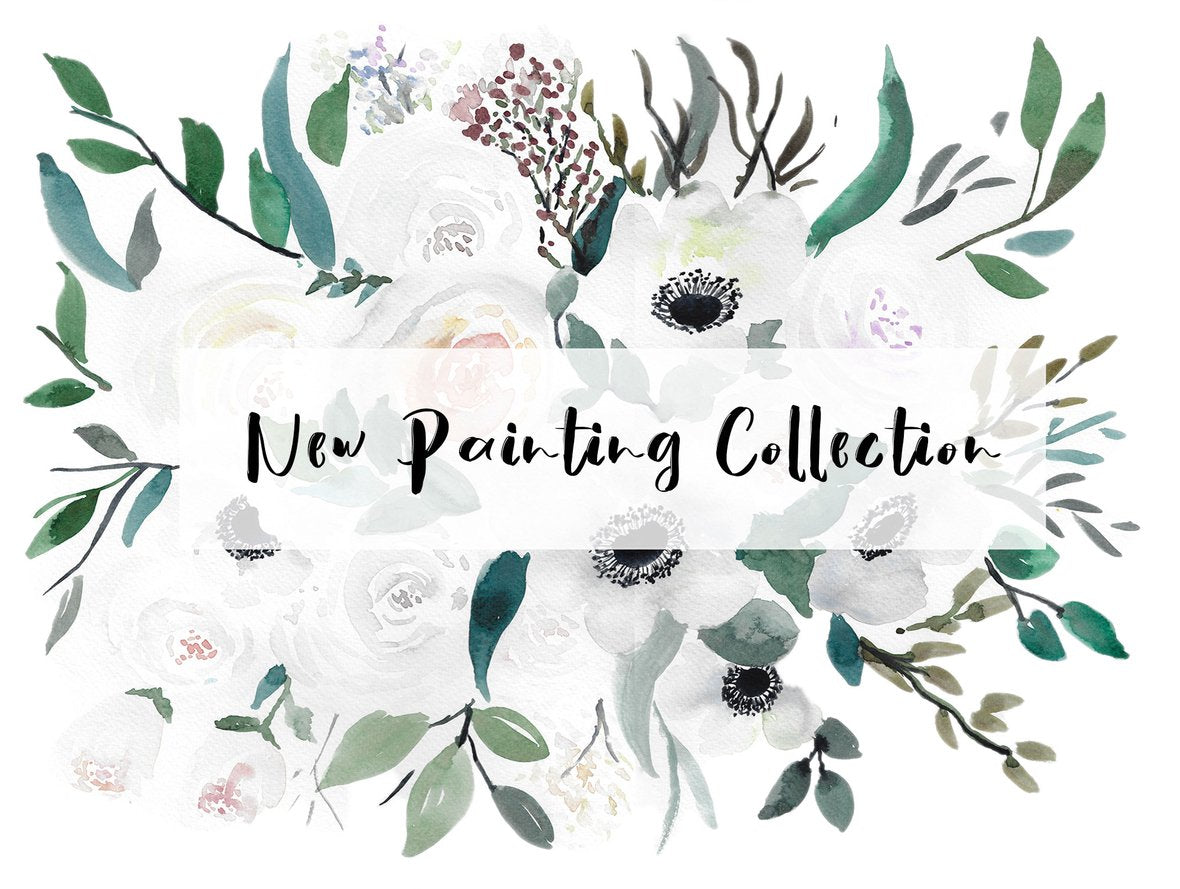 new watercolor floral paintings collection