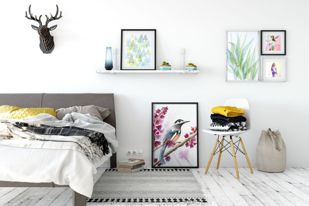 Modern watercolor prints and body positive art
