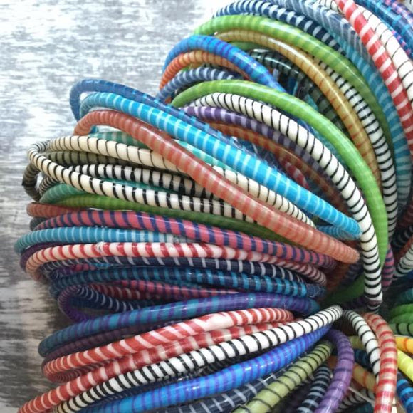 RECYCLED PLASTIC BANGLES