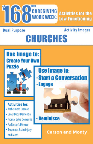 Reminiscing Puzzle Book for the Low Functioning: Churches