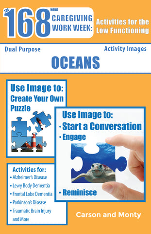 Reminiscing Puzzle Book for the Low Functioning: Oceans