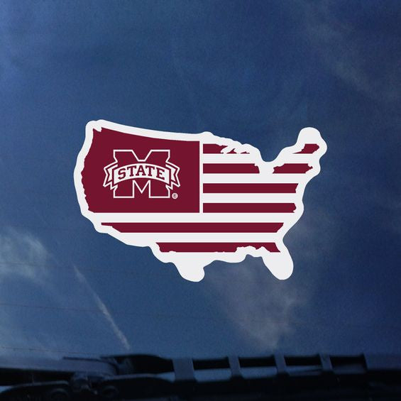 Mstate USA Flag Decal