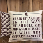 Train Up a Child MSU Pillow