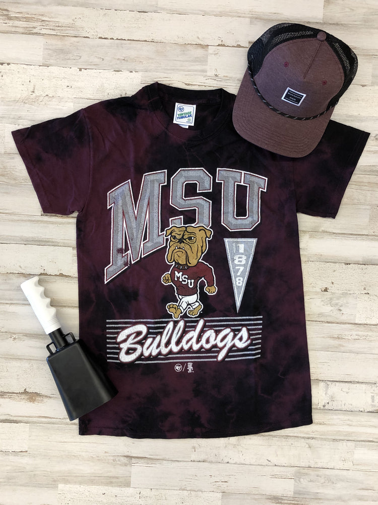 MSU Walking Bully Tie Dye Tee