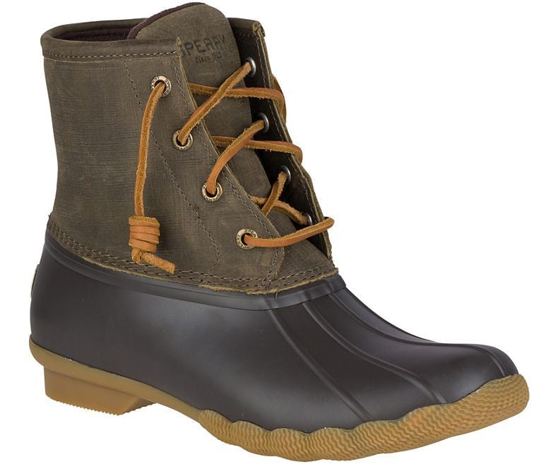 Women's Saltwater Duck Boots - Brown / Olive