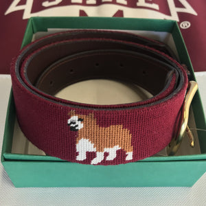 Bulldog Embroidery Belt
