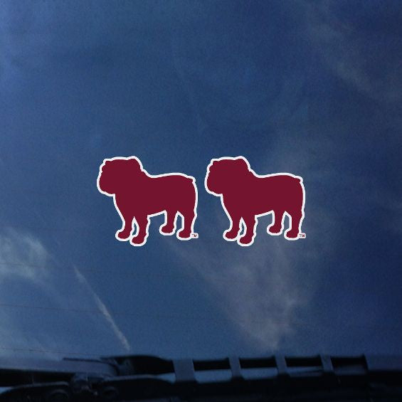 Mini Bulldog Silhouette Decal Pack