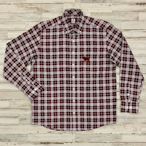 MSU Bulldog Austin Plaid Button Up