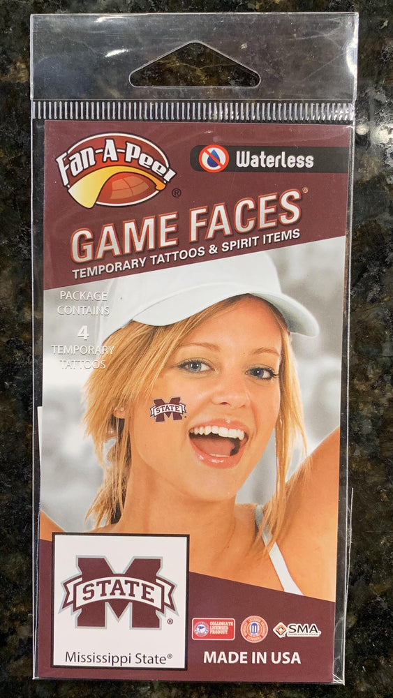 MSU Press On Face Tattoo