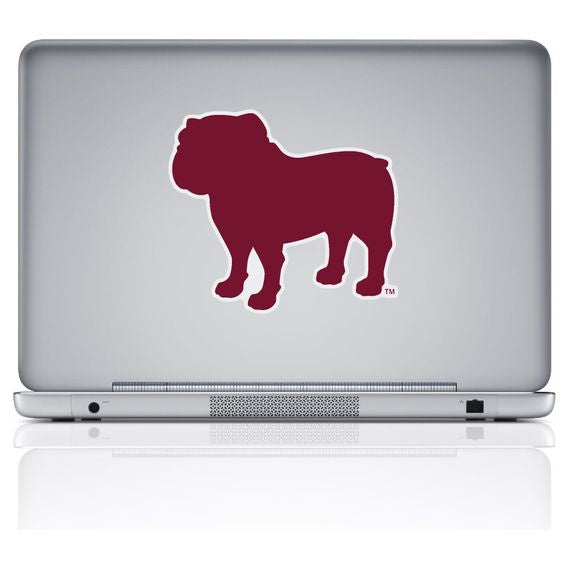 MSU Large Bulldog Silhouette Decal