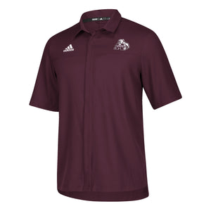 Full button  MSU logo shirt