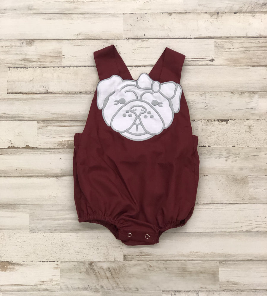 Lil' Hairbow Bulldog Bubble Romper