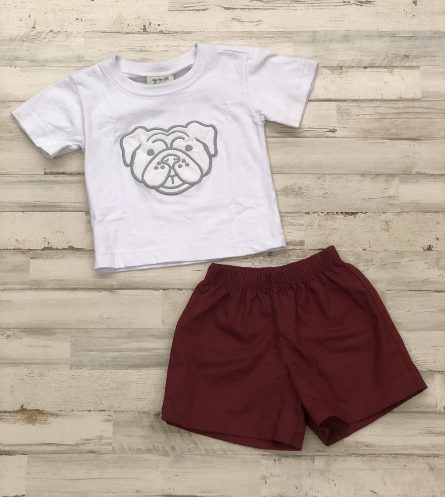 Lil' Bulldog Short Set