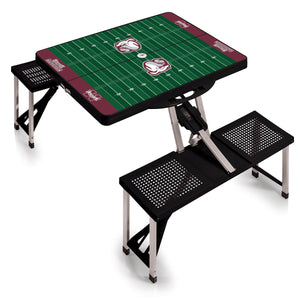Mississippi State Bulldogs - Portable Picnic Table w/Sports Field Design