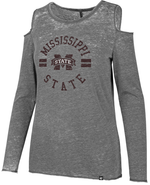 MSU Fade Cold Shoulder LS Tee
