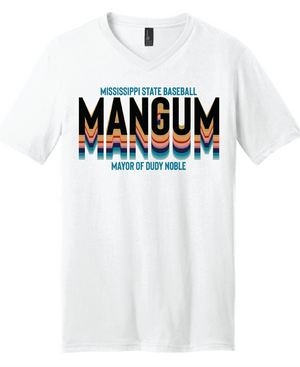MANGUM Retro V Neck