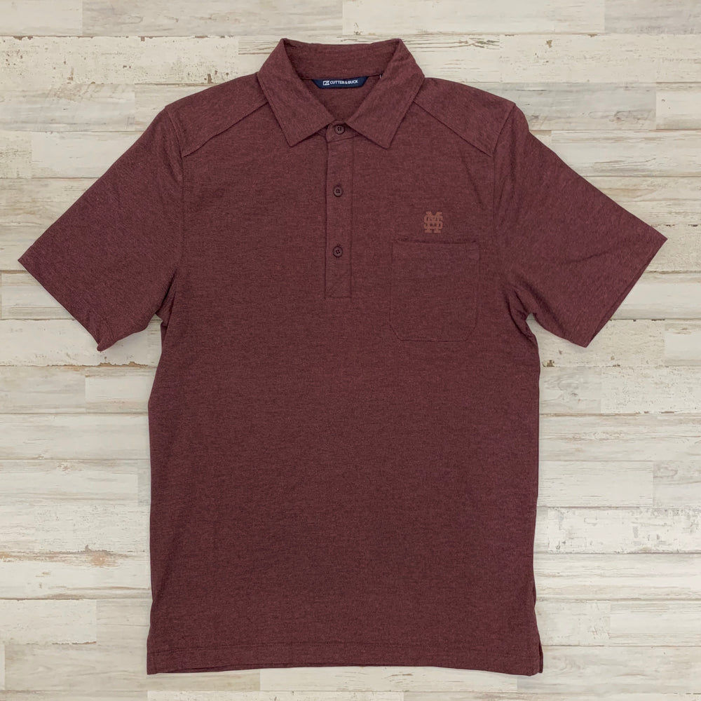 MSU Baseball Advantage Polo - Maroon
