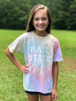 Youth Hail State Tie Dye Tee - Rainbow