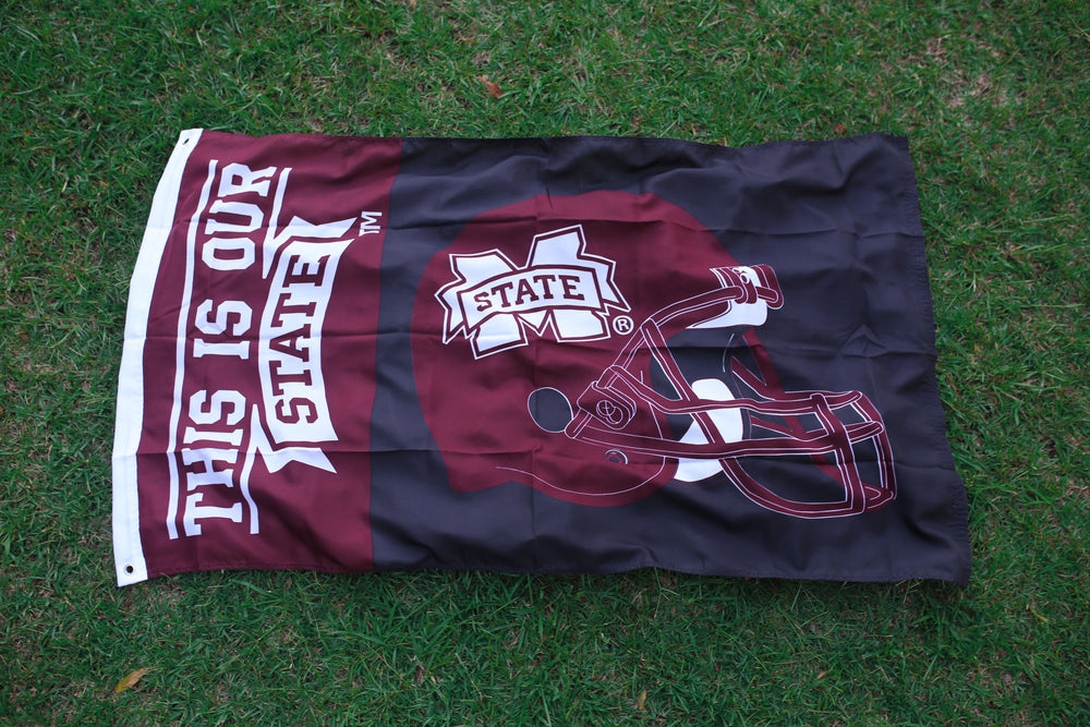 This is Our State / Football Helmet Flag