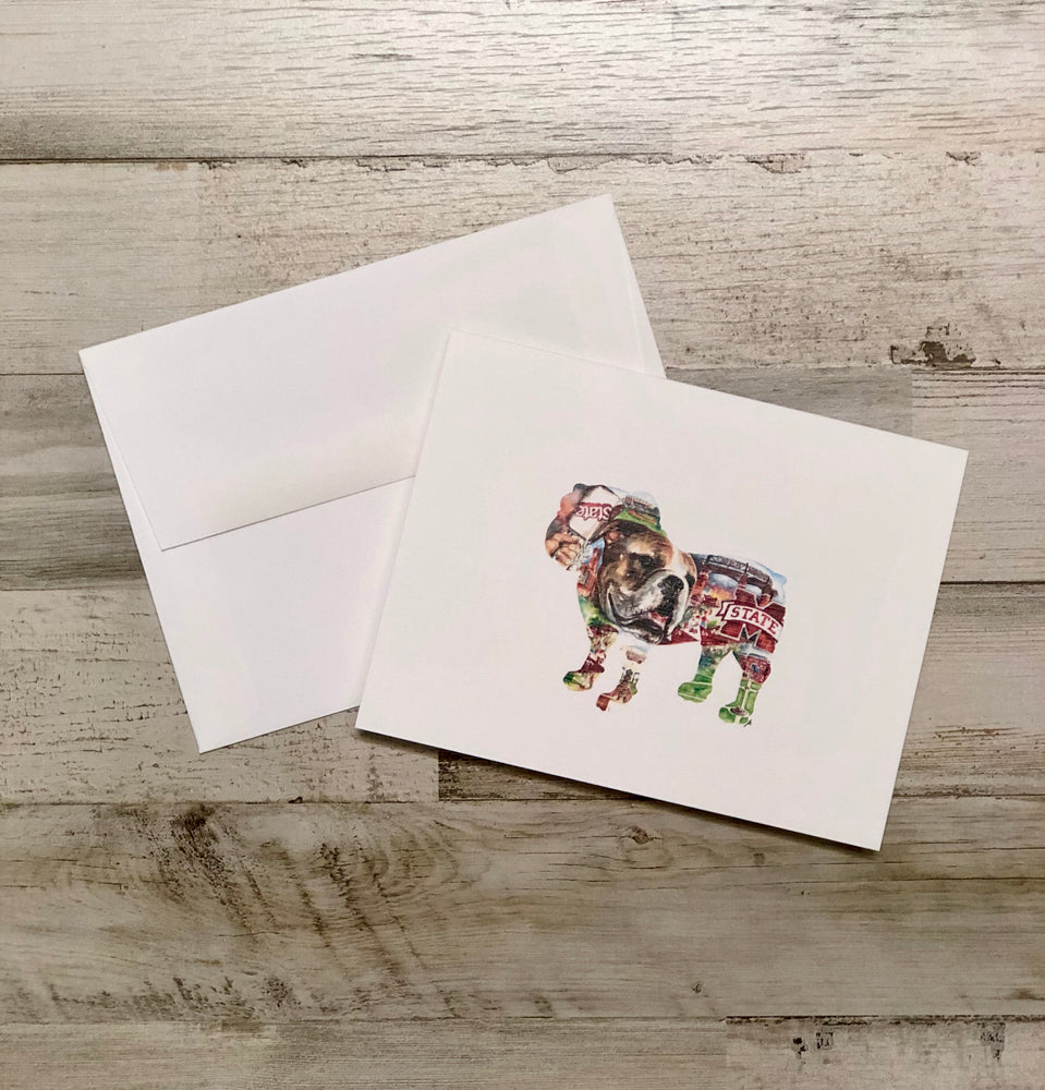 Bulldog Collage Folded Note Set