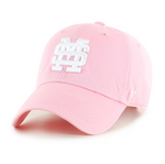 MSU Baseball Clean Up Hat - Pink