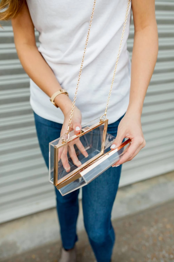 Clear Acrylic Gameday Purse