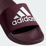 Adilette Shower Slides - Maroon