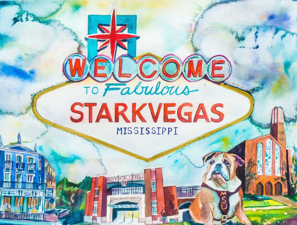 Starkvegas Watercolor Print