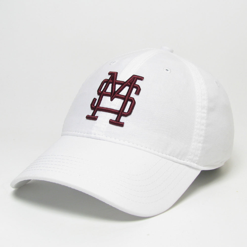 MSU Baseball Lightweight Relaxed Twill Hat White