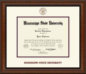 Dimensions Diploma Frame in Austin with Textured Ivory/Maroon mats